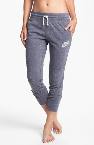 Wonderful Nike Time Out Capri Sweatpants In Gray Dark Grey Heather