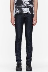Rag & Bone Indigo Raw Denim Jay Slim Jeans - Lyst