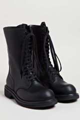 Rick Owens Womens Army Boots in Black - Lyst