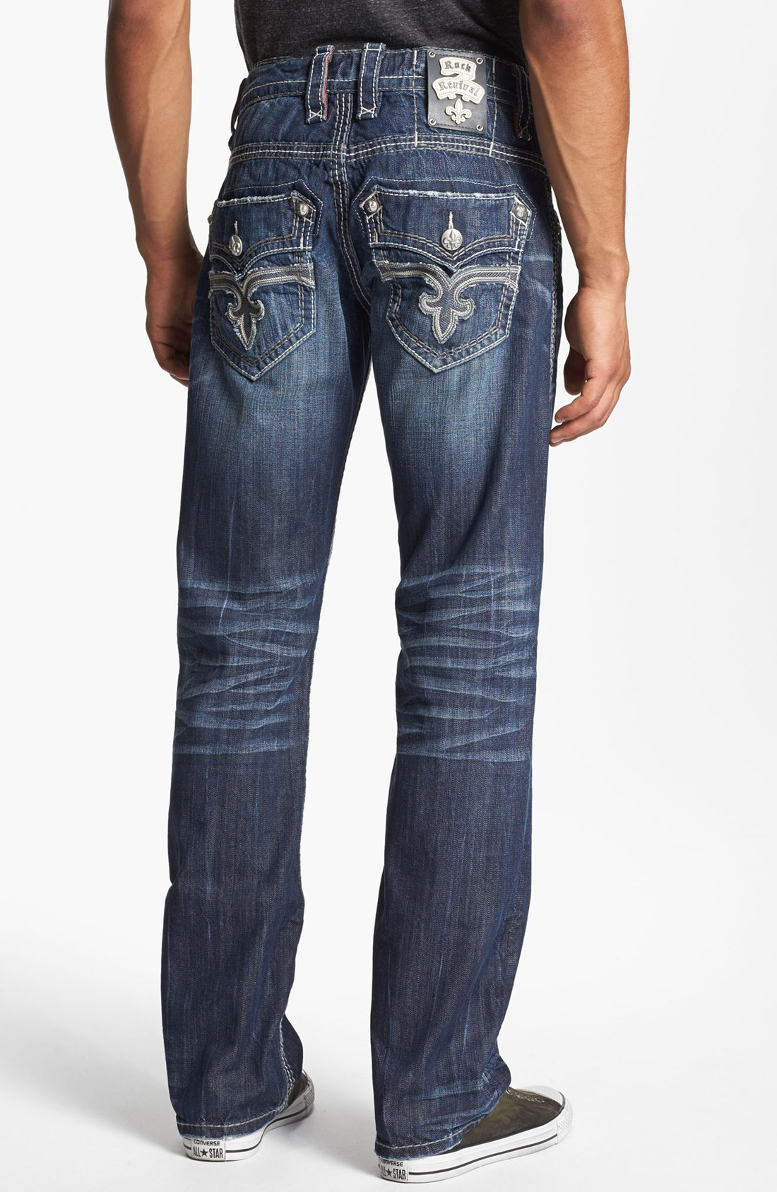 Rock Revival Dan Straight Leg Jeans in Blue for Men (Dark Blue) | Lyst