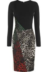 Roland Mouret Dresden Leopard Jacquard and Crepe Dress - Lyst
