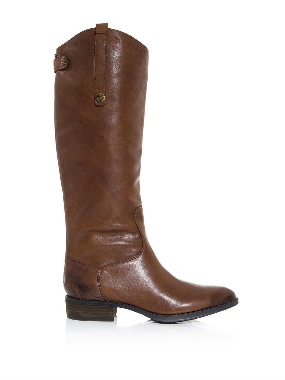 sam edelman kneehigh boots in brown for lyst