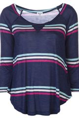 Splendid Striped Knit Top - Lyst
