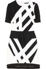 Tibi Geometric print Cotton piqué and Crepe Dress - Lyst