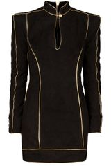 Balmain Piping Detail Fitted Dress - Lyst