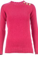 Balmain Button Detail Jumper - Lyst