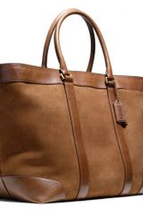 Coach Bleecker Weekend Tote in Suede - Lyst