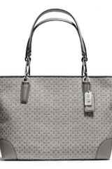 Coach Madison Eastwest Tote in Needle point Op Art Fabric - Lyst