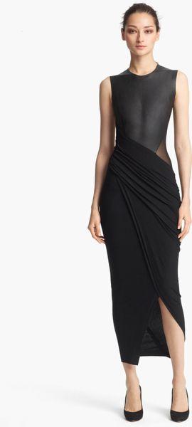 Donna Karan New York Collection Sleeveless Leather Jersey