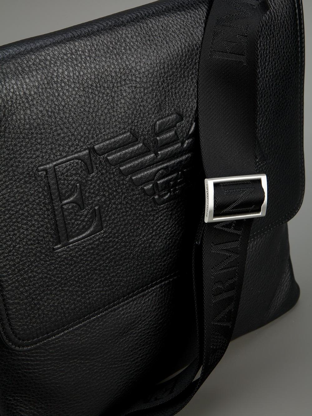 Lyst Emporio Armani Cross Body Shoulder Bag In Black For Men