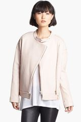 J Brand Ready-to-wear Dorothy Pebble Leather Moto Jacket - Lyst