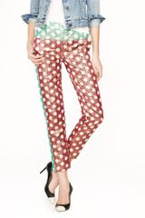 J.Crew Preorder Collection Gold Leaf Dotted Jacquard Pant