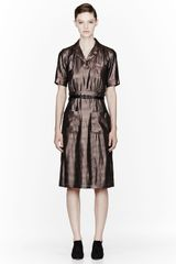 Marc Jacobs Red Silk Pied De Poule 50s Style Dress - Lyst