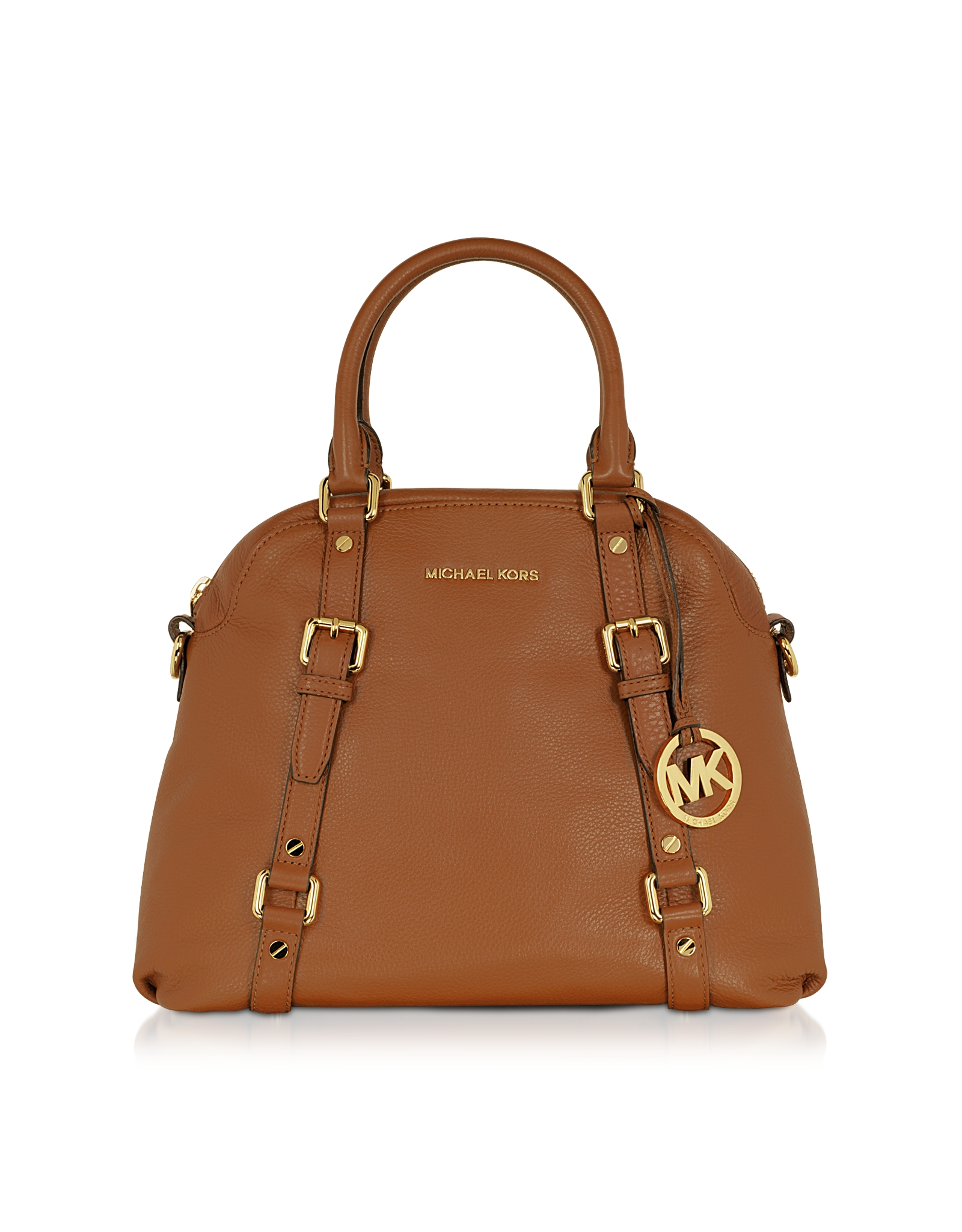 52e17c97fa95 Lyst - Michael Kors Bedford Genuine Leather Bowling Satchel Bag in Brown