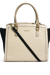 River Island Quilted Winged Color Block Tote Bag - Lyst