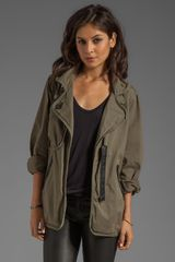 Sanctuary Stretch Fine Twill Slouch Army Jacket in Army - Lyst