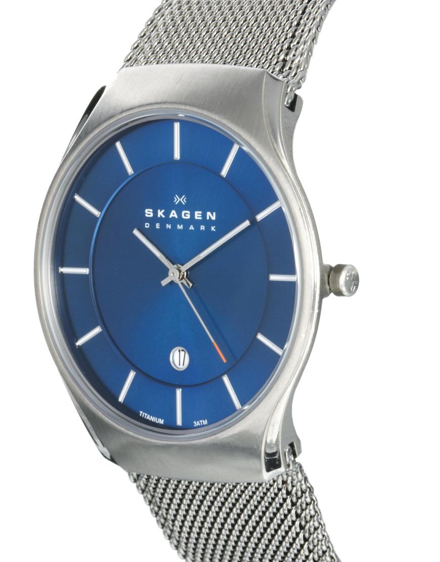 Skagen Watch 956xlttn Quartz Titanium Blue Dial In