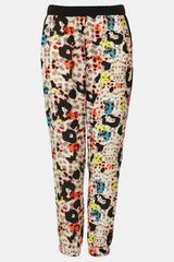 Topshop Colored Leopard Print Jogging Pants - Lyst