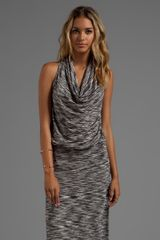 Trina Turk Space Dye Jersey Maxi Raissa Dress in Black