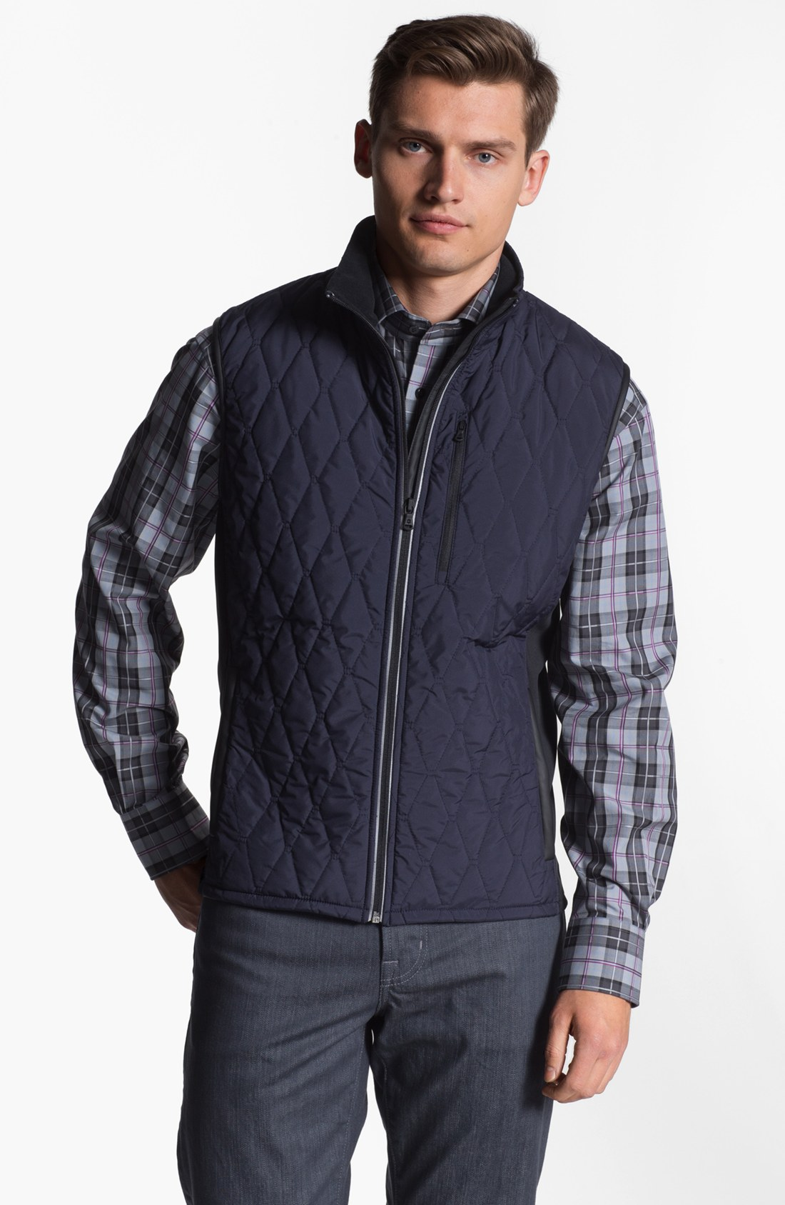 Victorinox Glares Quilted Vest In Blue For Men Navy Lyst