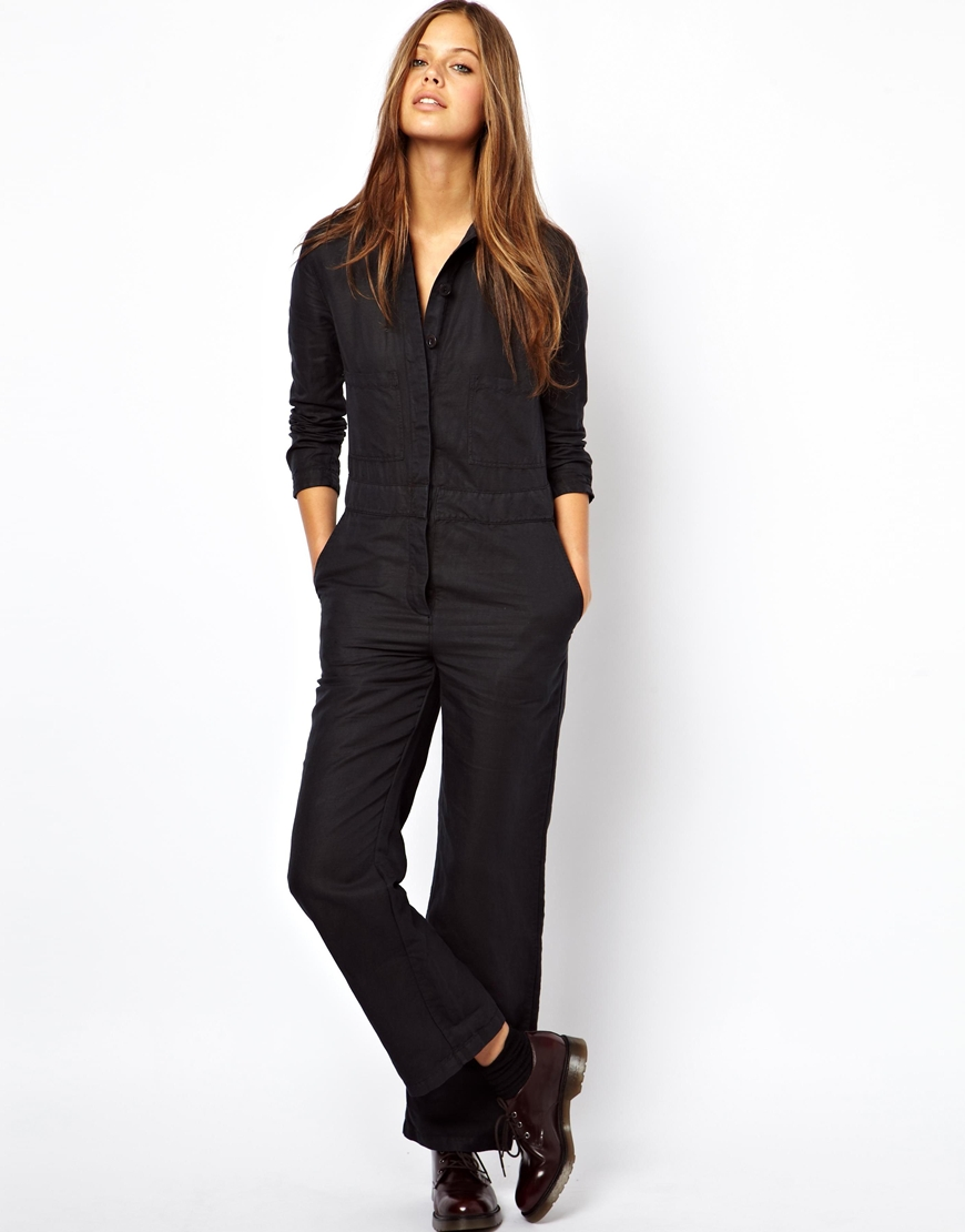 Lyst Ymc Michaela Boiler Suit In Blue
