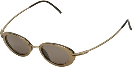 Gold Frame Oval Sunglasses : Yohji Yamamoto Oval Frame Sunglasses in Brown (gold) Lyst