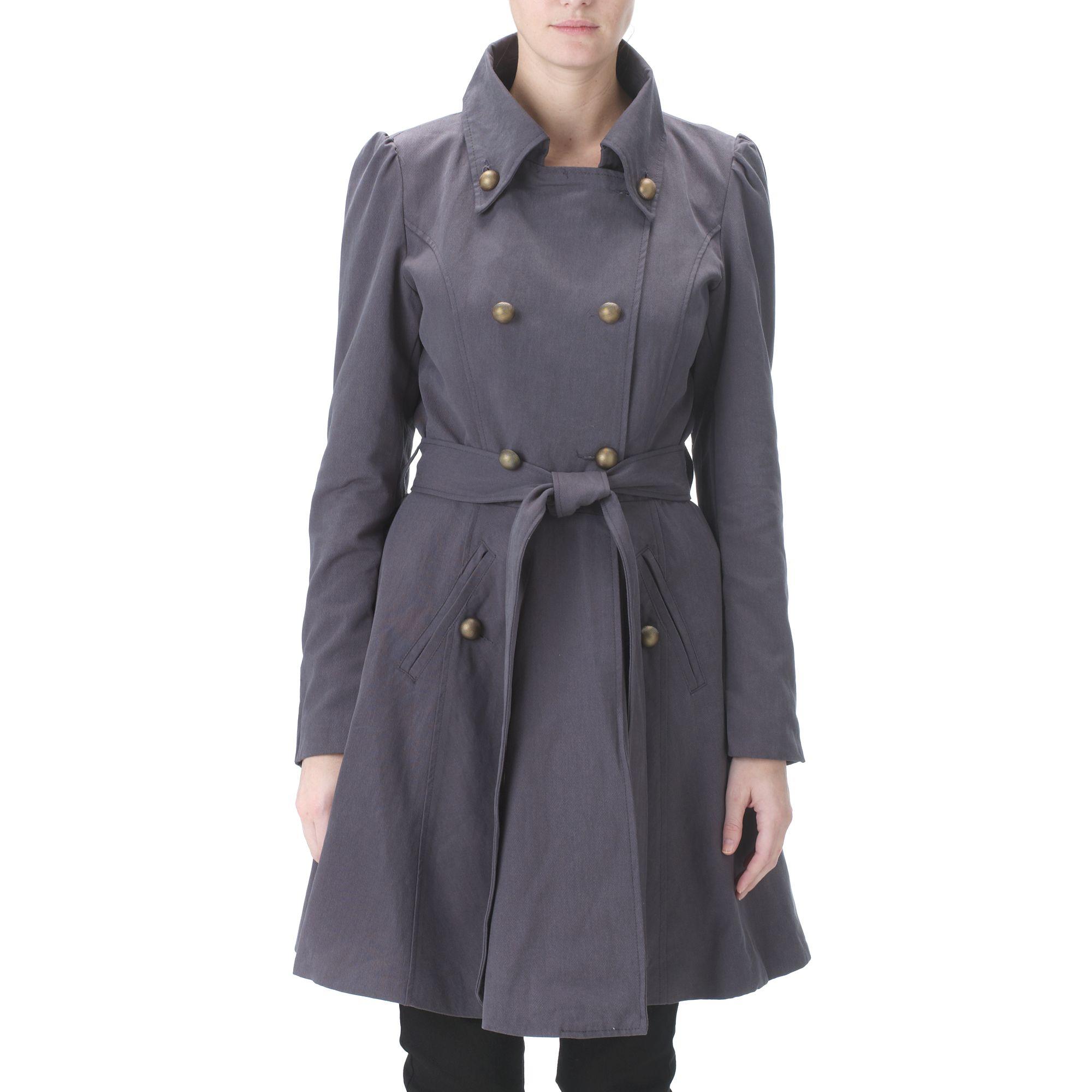 Grey Military Coat   Down Coat