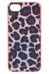 Marc By Marc Jacobs Leopard Print Iphone 5 Case - Lyst