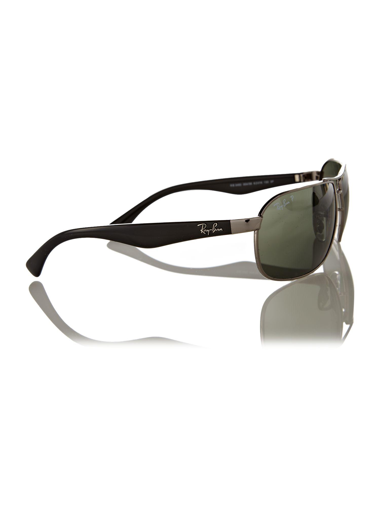 Ray Ban Mens Rb3492 Gunmetal Polar Square Sunglasses In Metallic For Men Lyst