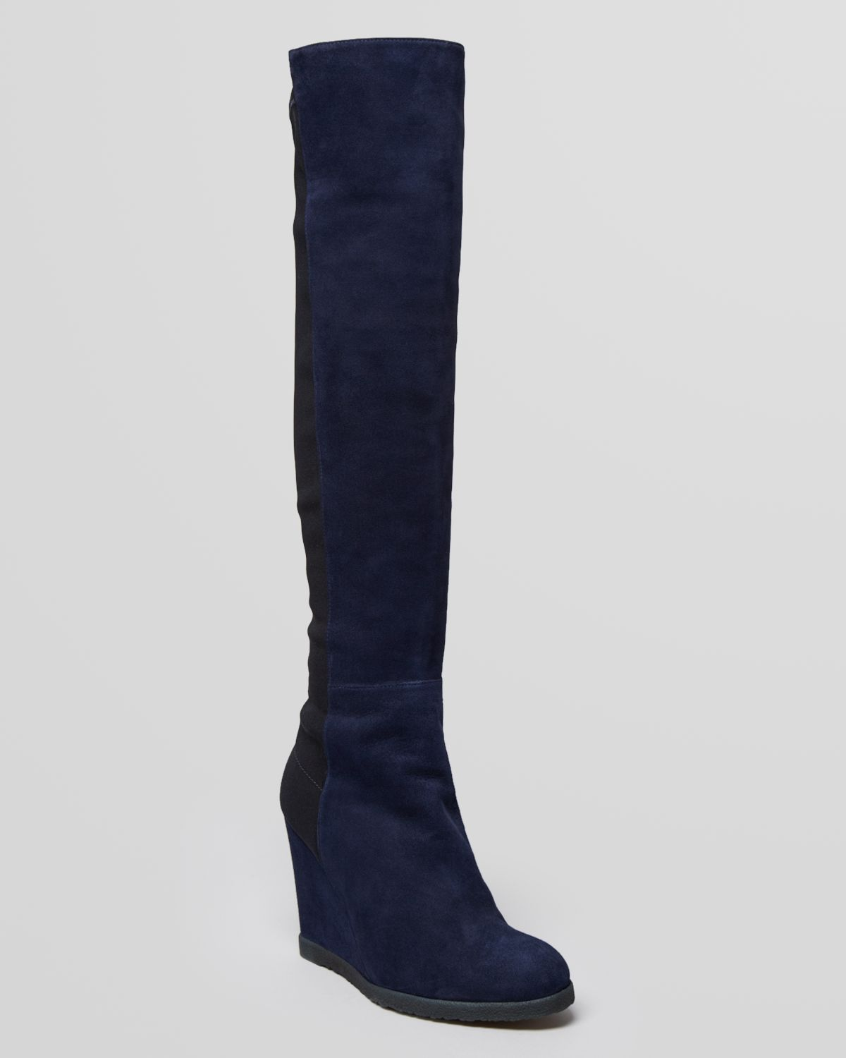 stuart weitzman wedge boots demiswoon in blue blue