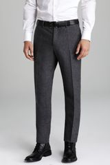 Vince Brushed Wool Herringbone Trousers - Lyst