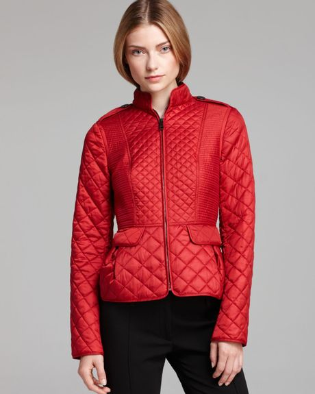 Burberry Coat Dearington Light Puffer In Red Laquer Red