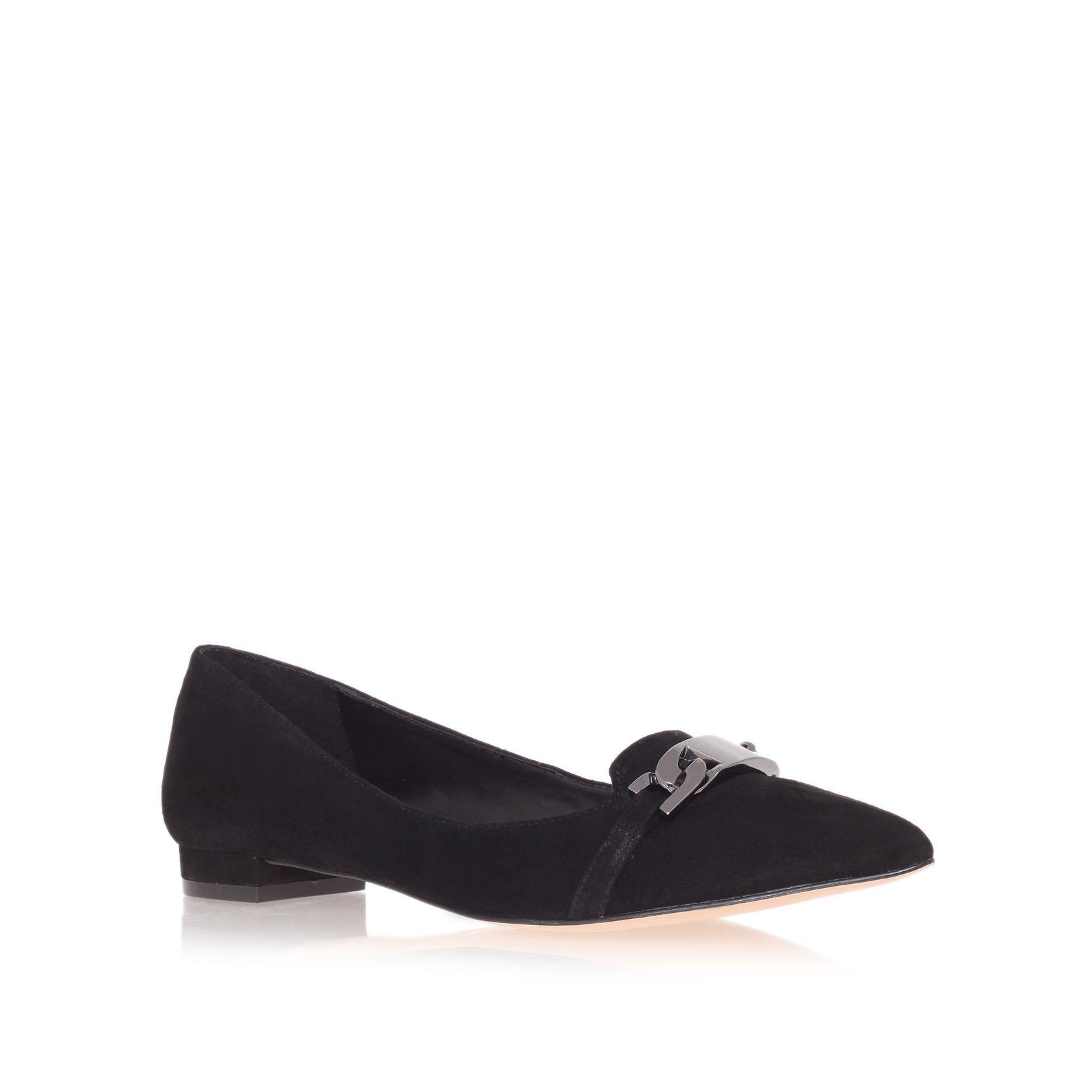 carvela kurt geiger linked slipper shoes in black lyst