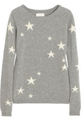 Chinti And Parker Star Intarsia Cashmere Sweater - Lyst