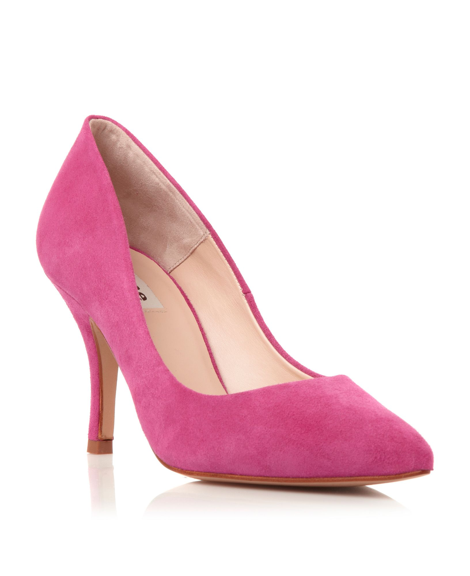Pink Shoes Mid Heel - Is Heel
