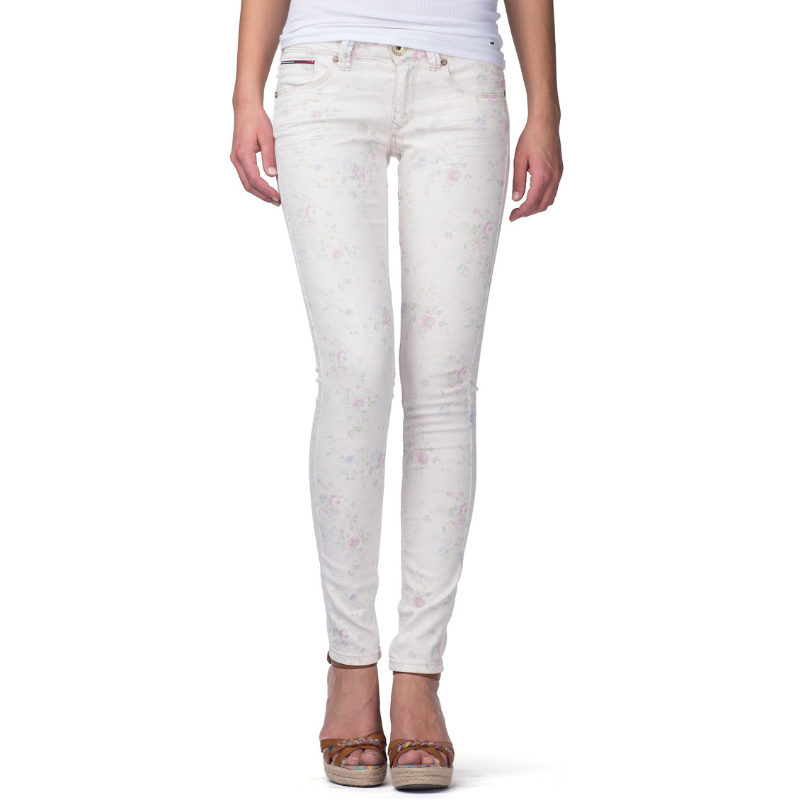 Ladies Womens Tommy Hilfiger SOPHIE SKINNY Stretch White