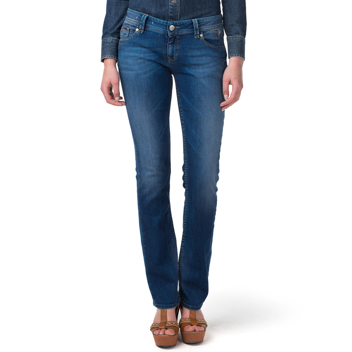 4936f3f2e Tommy Hilfiger Suzzy Straight Leg Jeans in Blue - Lyst