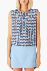 Topshop Boutique Floral Silk Top - Lyst