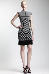 Alexander McQueen Pleatedhem Printed Knit Dress - Lyst