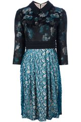 Antonio Marras Floral and Lace Dress - Lyst