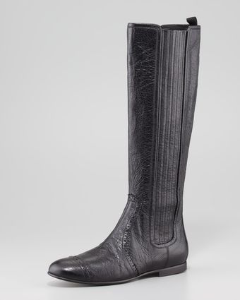 Balenciaga Arena Stretch Leather Knee Boot - Lyst
