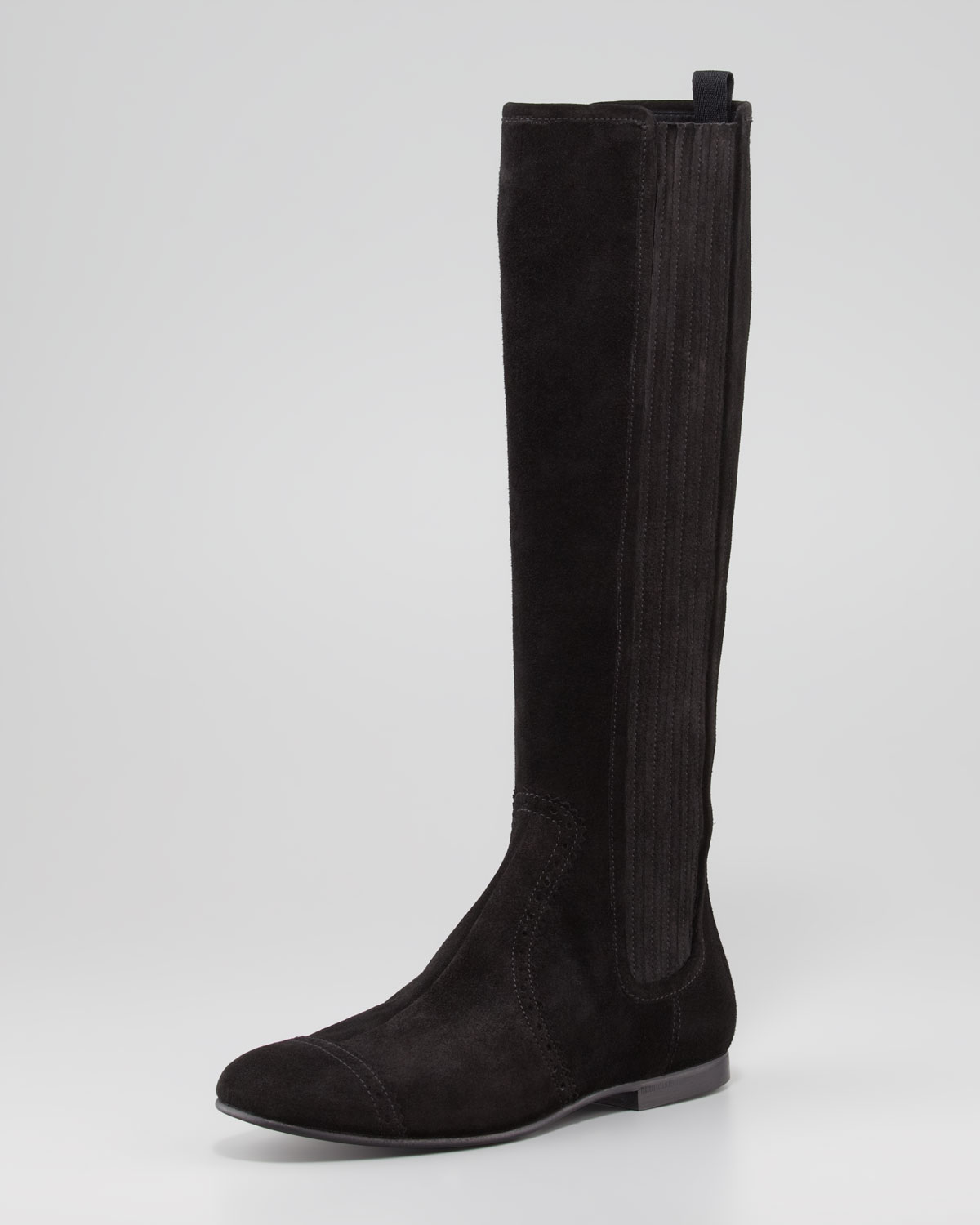 3a6b08bc9c52 Lyst - Balenciaga Arena Suede Flat Knee Boot in Black