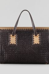 Bottega Veneta Intrecciato Leather Woven Yarn Tote Bag  - Lyst