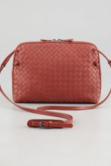 Bottega Veneta Veneta Small Crossbody Bag Dark Red - Lyst