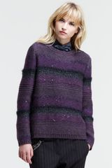 Brunello Cucinelli Striped Knit Paillette Sweater - Lyst