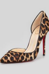 Christian Louboutin Iriza Leopardprint Calf Hair Red Sole Pump - Lyst