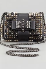 Christian Louboutin Sweet Charity Studded Crossbody Bag Black - Lyst