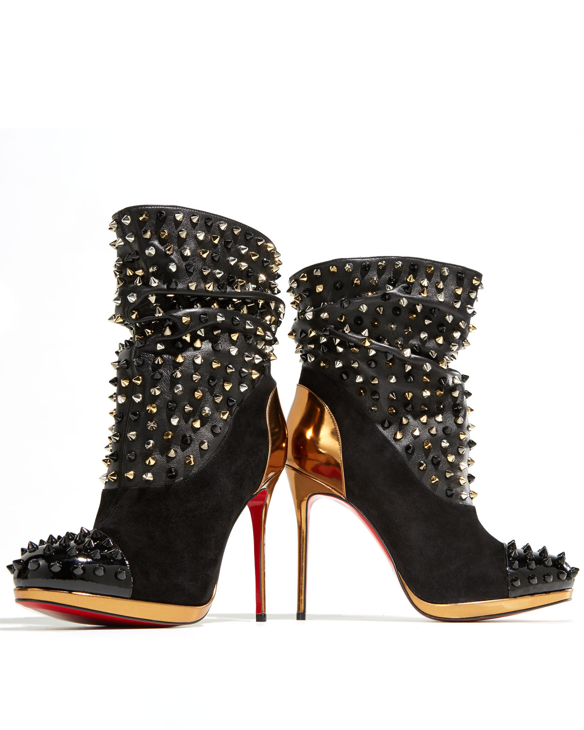 new products 6440b 34612 Artesur » christian louboutin Spike Wars ankle boots