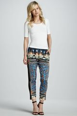 Clover Canyon Arabesque Scarf Printed Ankle Pants - Lyst