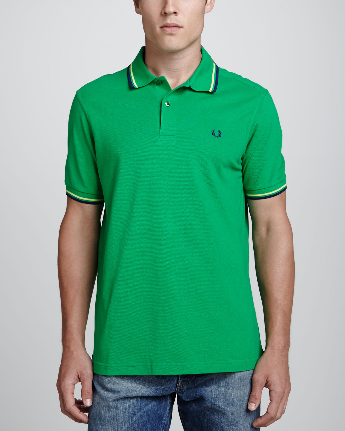 Lyst - Fred Perry Twintipped Polo Shirt Kelly Green in ...
